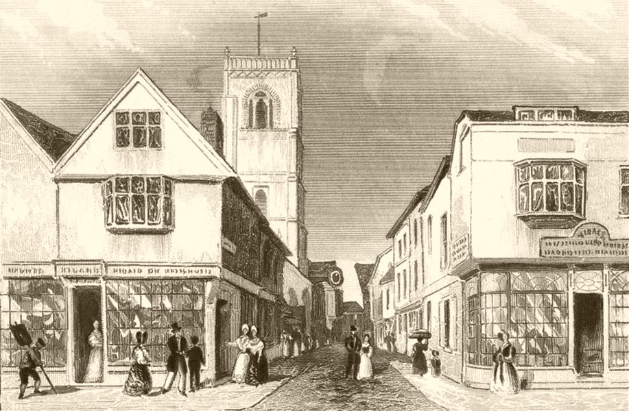 Associate Product SUFFOLK. Ipswich, and the Church of St Lawrence. DUGDALE 1845 old print