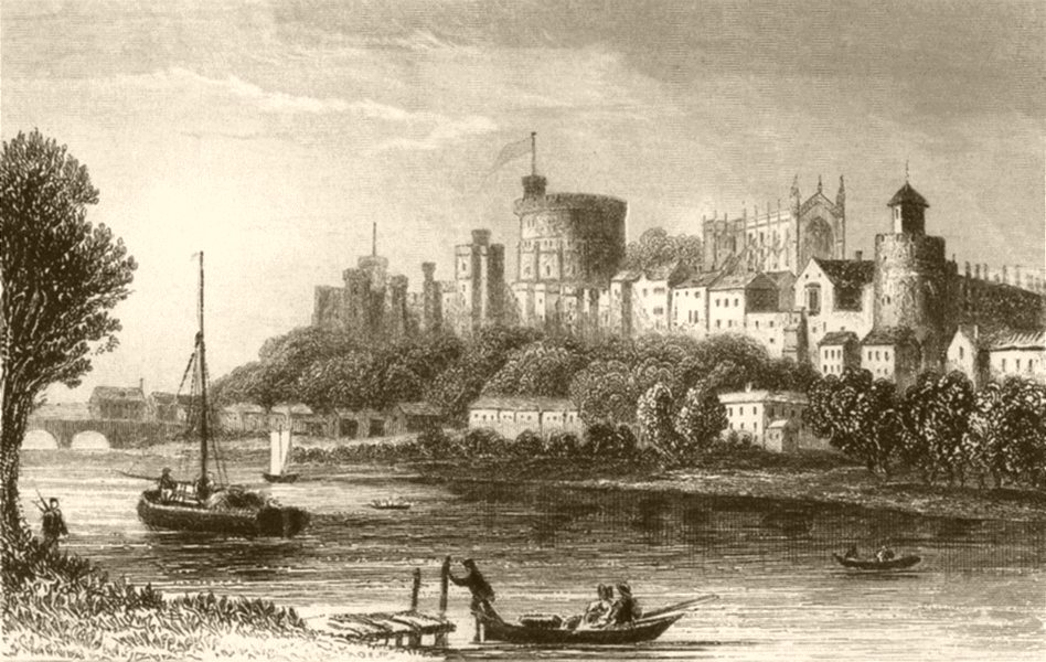 Associate Product BERKSHIRE. The Castle of the British Sovereign, Windsor. DUGDALE 1845 print