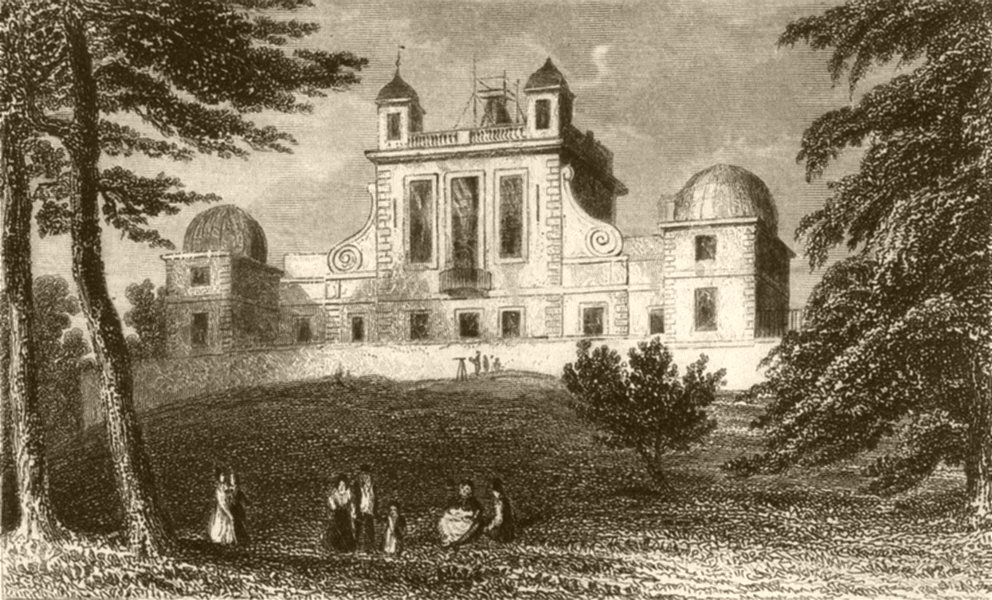 Associate Product LONDON. The Royal Observatory, Greenwich Park, Kent. DUGDALE 1845 old print