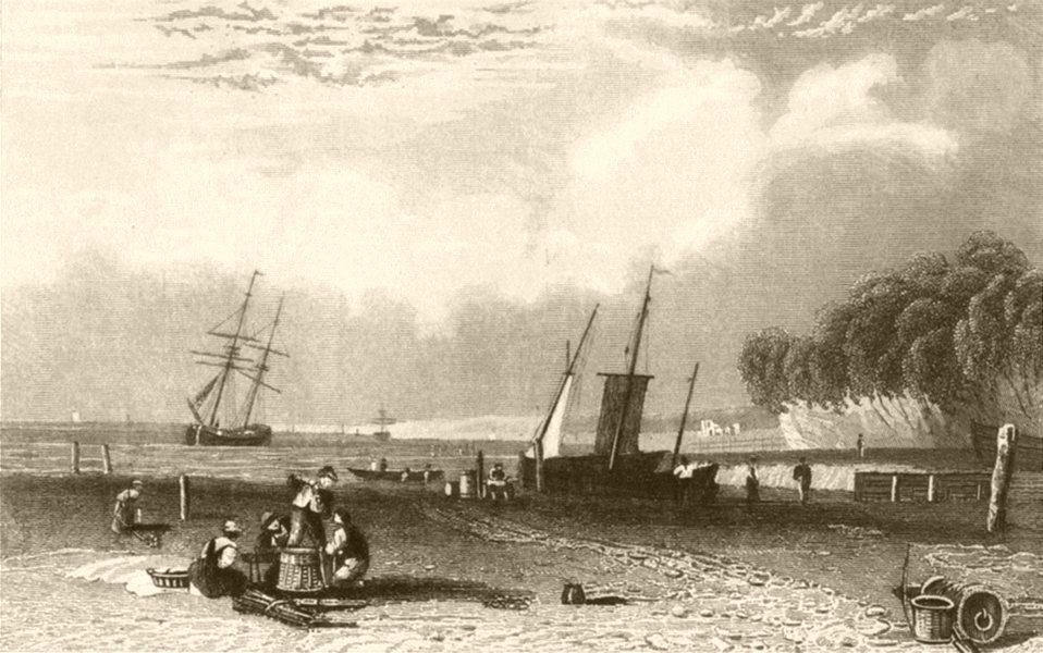 Associate Product KENT. Northfleet, near Gravesend, Kent. DUGDALE 1845 old antique print picture