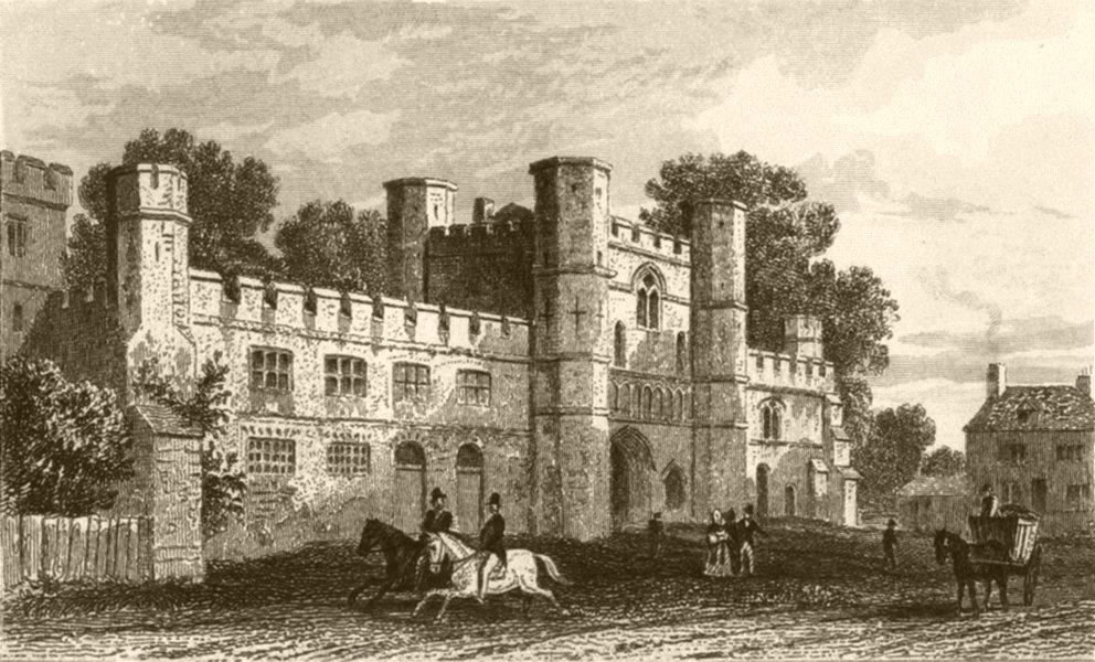 Associate Product SUSSEX. Battle Abbey. DUGDALE 1845 old antique vintage print picture