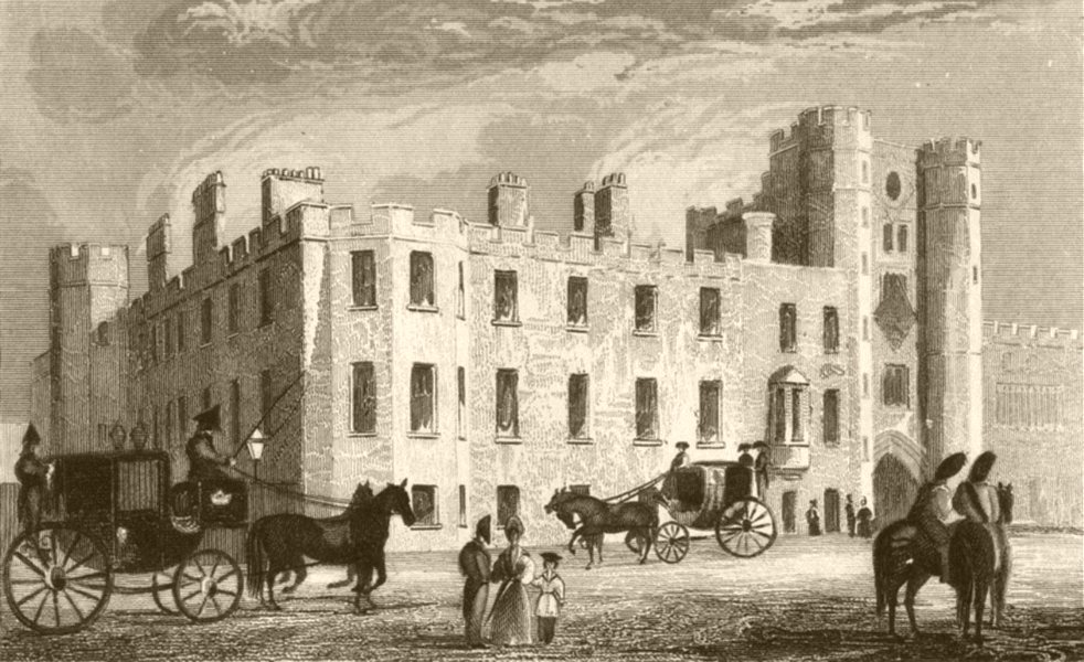 Associate Product LONDON. St Jamess Palace. DUGDALE 1845 old antique vintage print picture