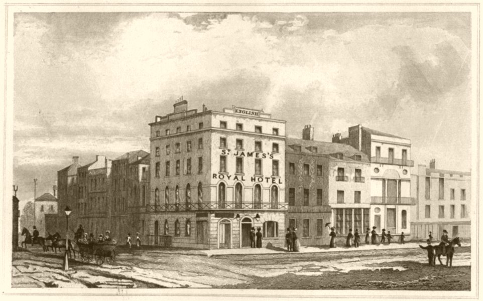 Associate Product LONDON. English's St James's Royal hotel (2). DUGDALE 1845 old antique print