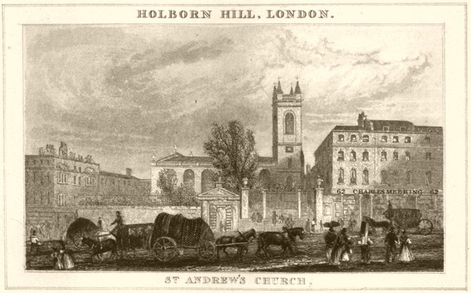 Associate Product DEVON. St Andrew's Church. DUGDALE 1845 old antique vintage print picture