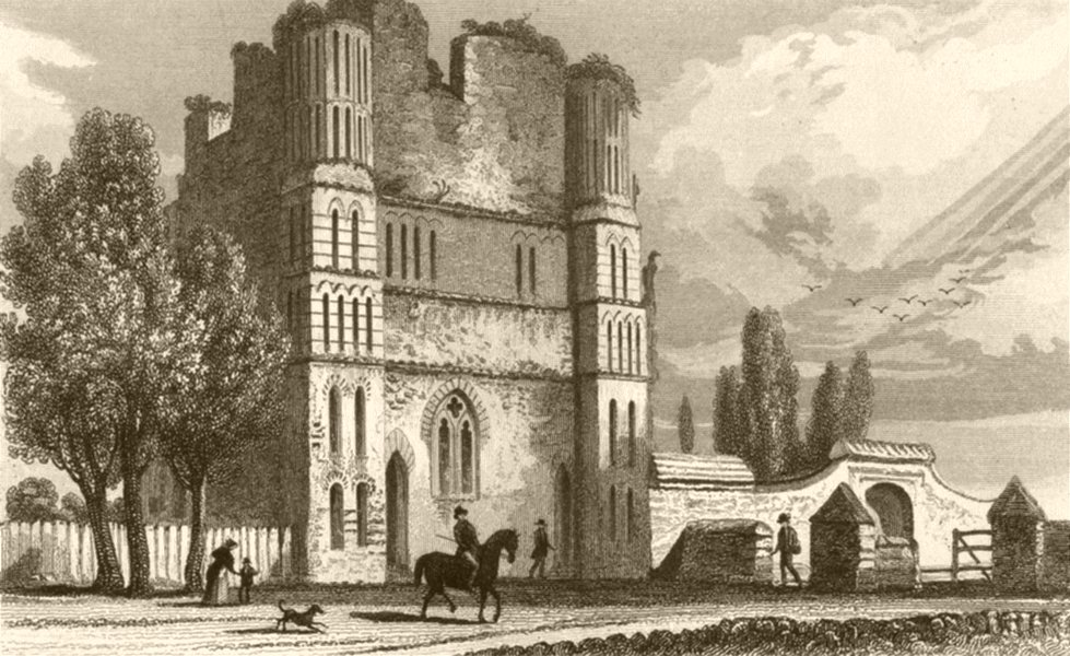 Associate Product KENT. Remains of Malling abbey. DUGDALE 1845 old antique vintage print picture