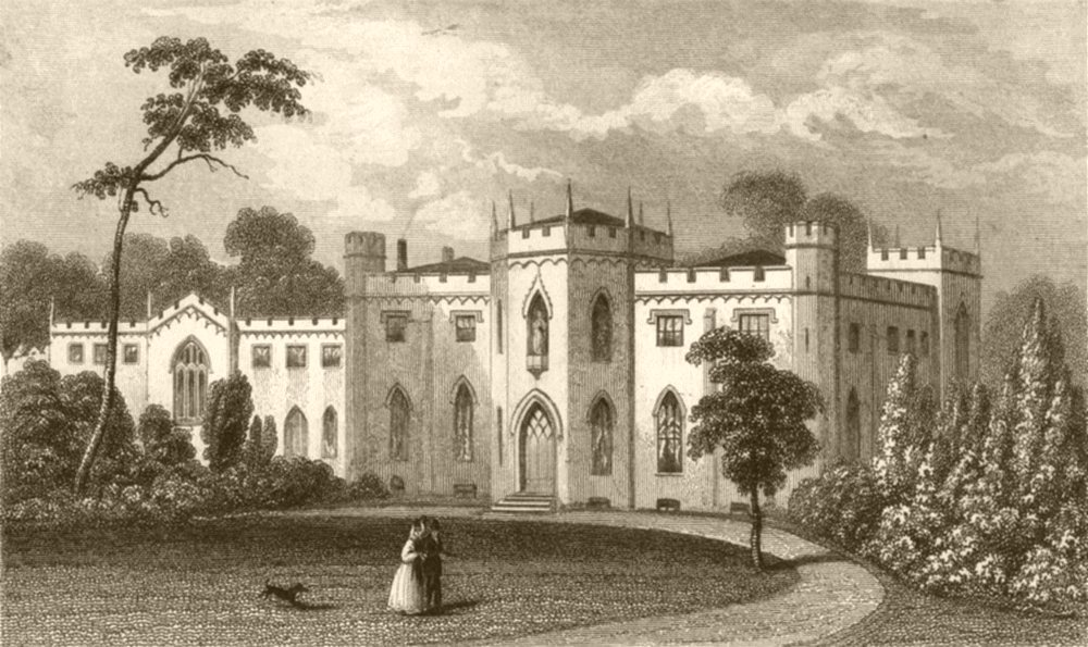 Associate Product LONDON. Roehampton Priory. DUGDALE 1845 old antique vintage print picture
