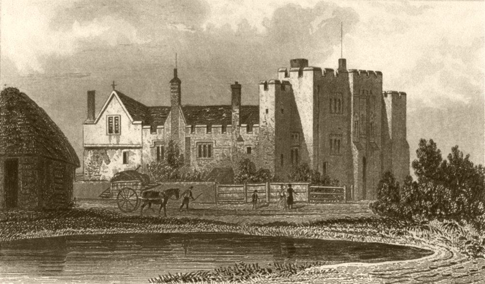 Associate Product KENT. Hever Castle. DUGDALE 1845 old antique vintage print picture
