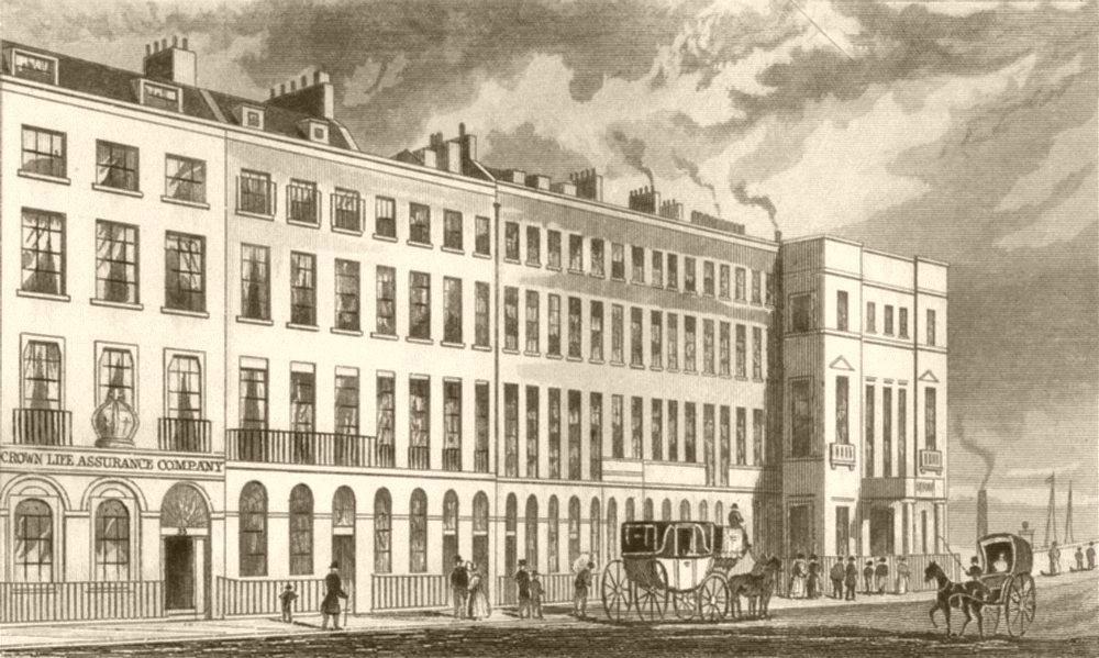 Associate Product LONDON. New Bridge Street, Blackfriars, London. DUGDALE 1845 old antique print