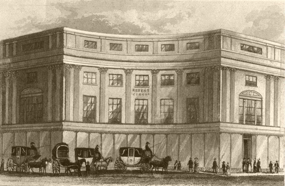Associate Product LONDON. Regent Circus, Oxford Street, London. DUGDALE 1845 old antique print