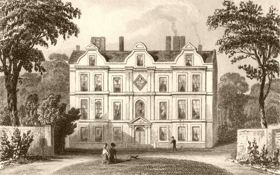 Associate Product LONDON. Kew Palace, Surrey. DUGDALE 1845 old antique vintage print picture
