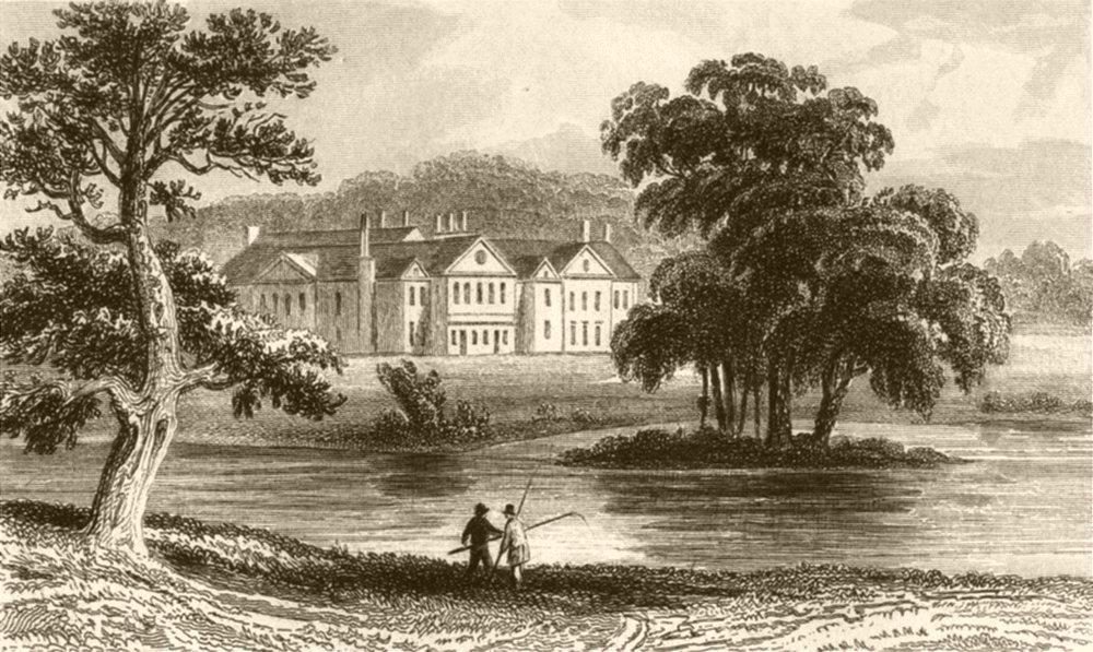 Associate Product HAMPSHIRE. Stratfield Saye, Hampshire. DUGDALE 1845 old antique print picture