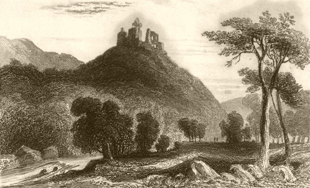 Associate Product DEVON. Oakhampton Castle, Devon. DUGDALE 1845 old antique print picture