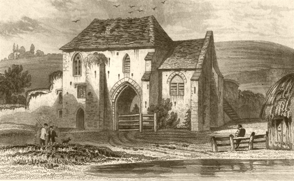 Associate Product KENT. St Martin's Priory, near Dover. DUGDALE 1845 old antique print picture