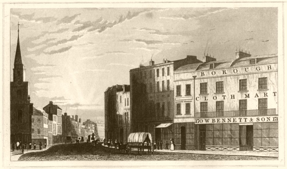 Associate Product LONDON. High Street, Southwark, London. DUGDALE 1845 old antique print picture