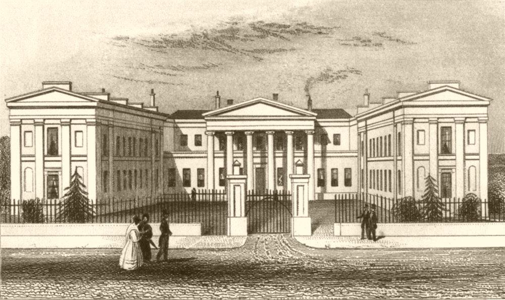 Associate Product LONDON. Highbury College, Islington, Middlesex. DUGDALE 1845 old antique print