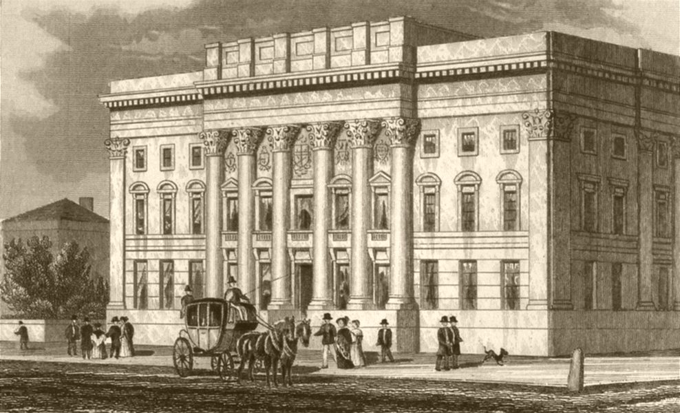 Associate Product LONDON. Goldsmith's hall. DUGDALE 1845 antique vintage print picture