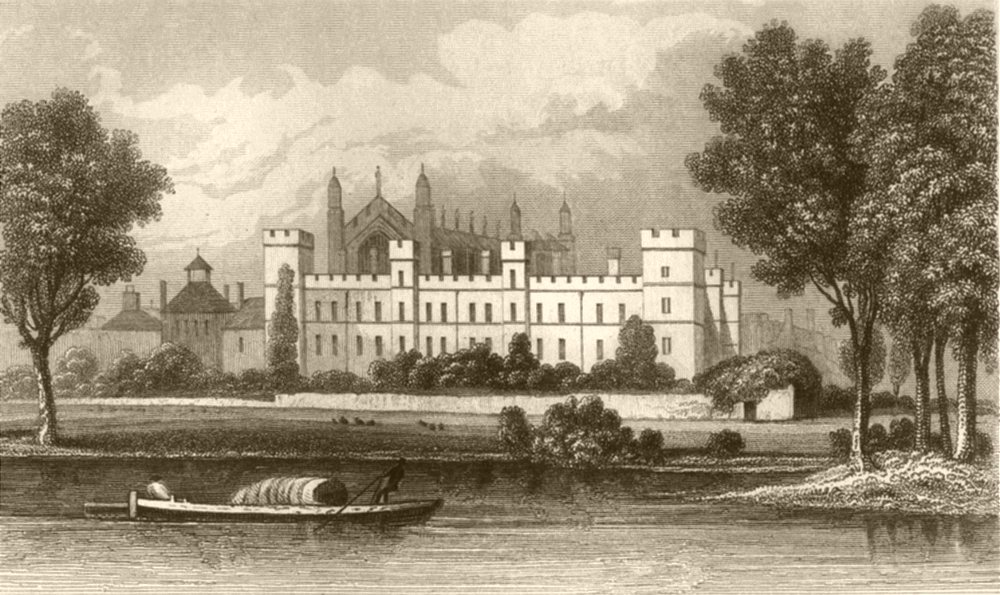 Associate Product BERKSHIRE. Eton college, Berkshire, from the Thames. DUGDALE 1845 old print
