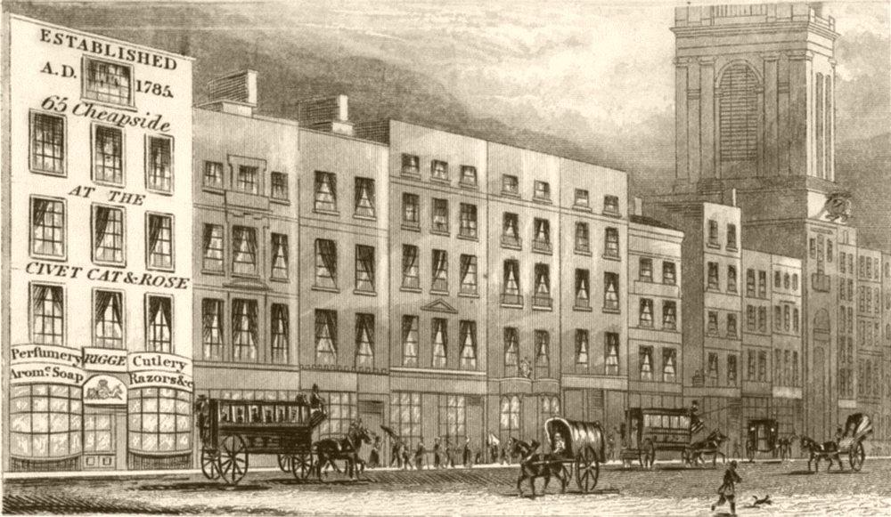 Associate Product LONDON. Cheapside, London. DUGDALE 1845 old antique vintage print picture