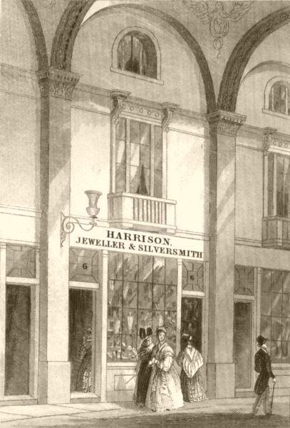 Associate Product LONDON. Interior of Lowther Arcade, Strand, London. DUGDALE 1845 old print