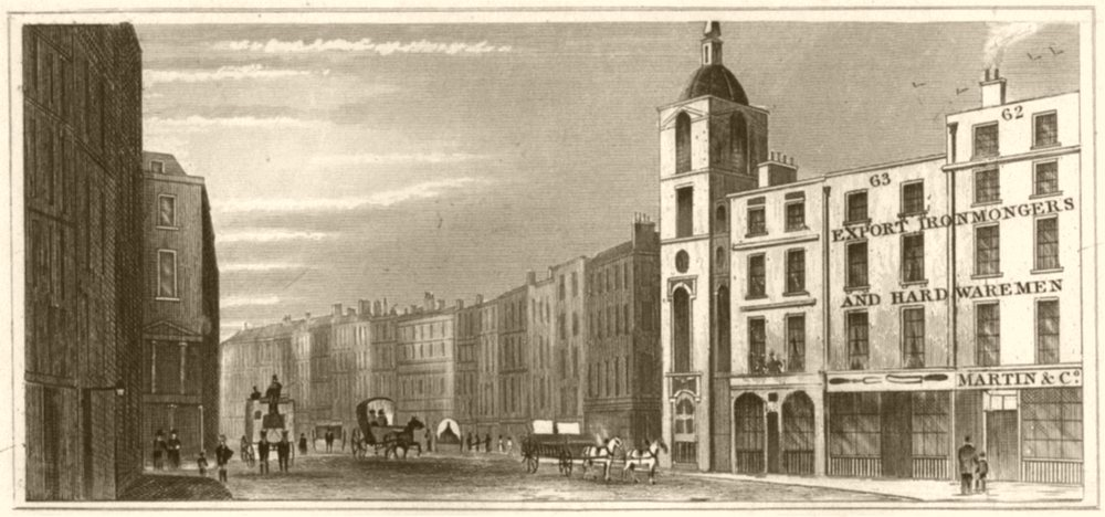 Associate Product LONDON. Gracechurch Street, London. DUGDALE 1845 old antique print picture