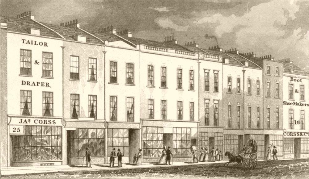 Associate Product LONDON. Shoreditch, London. DUGDALE 1845 old antique vintage print picture