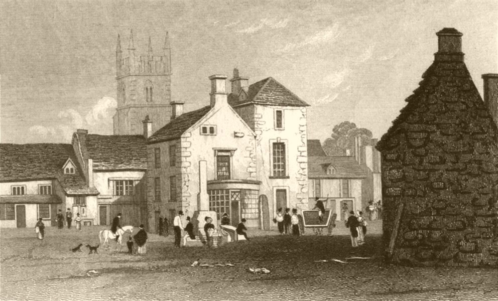 Associate Product GLOUCESTERSHIRE. Stow in the Wold, Gloucestershire. DUGDALE 1845 print