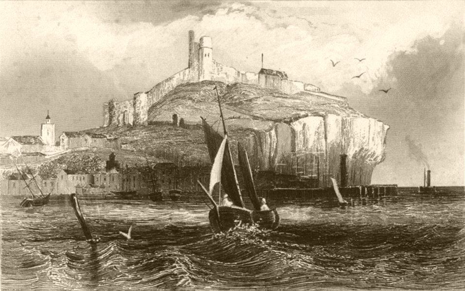 Associate Product YORKSHIRE. Scarborough Castle, Yorkshire. DUGDALE 1845 old antique print