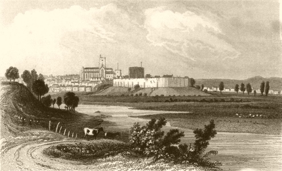 Associate Product CUMBRIA. City of Carlisle, Cumberland. DUGDALE 1845 old antique print picture