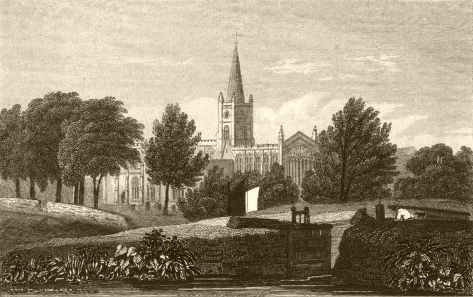 Associate Product WARWICKSHIRE. Stratford-upon-Avon, Warwickshire. DUGDALE 1845 old print