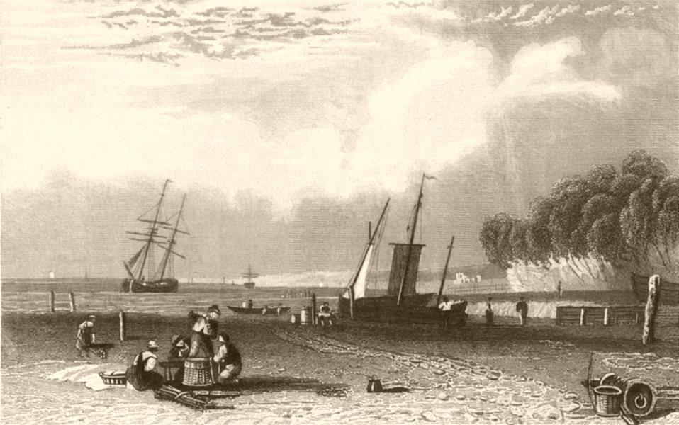 Associate Product KENT. Northfleet, near Gravesend . DUGDALE 1845 old antique print picture