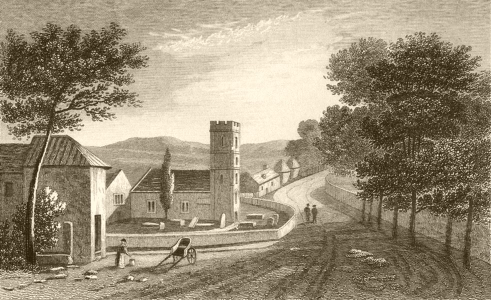 Associate Product WALES. Village of Raglan, Monmouthshire. DUGDALE 1845 old antique print