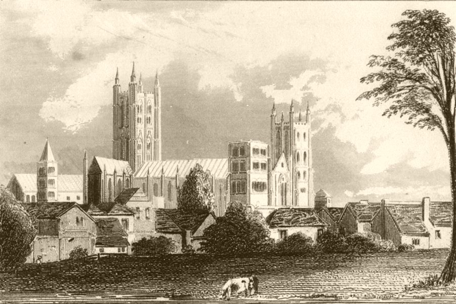 Associate Product KENT. Canterbury Cathedral, Kent. DUGDALE 1845 old antique print picture