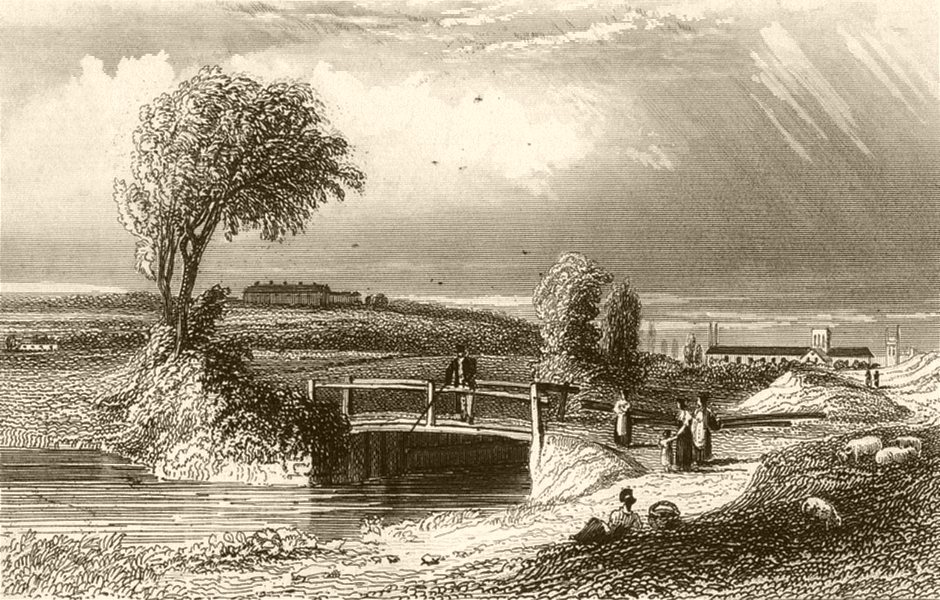 Associate Product HAMPSHIRE. Winchester. DUGDALE 1845 old antique vintage print picture