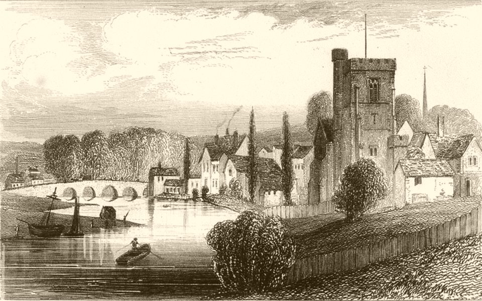 Associate Product KENT. Maidstone, Kent. DUGDALE 1845 old antique vintage print picture