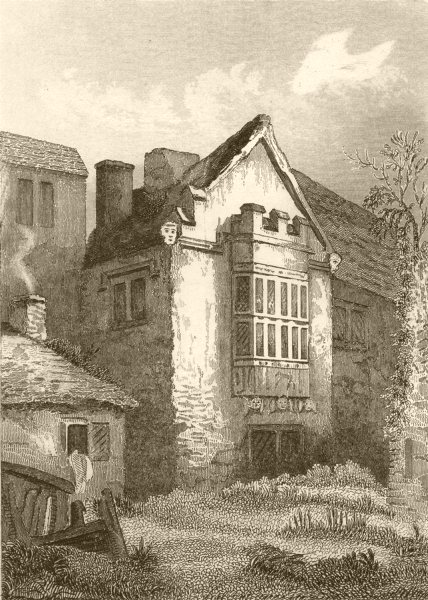 Associate Product GLOUCESTERSHIRE. The Vicarage Woodchester. DUGDALE 1845 old antique print