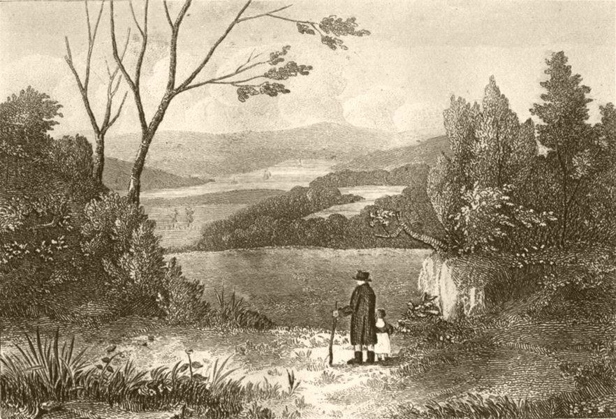Associate Product DEVON. On the Tamar, Devon. DUGDALE 1845 old antique vintage print picture