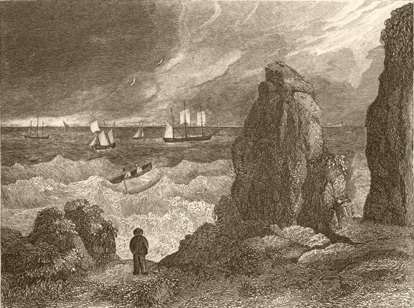 Associate Product DEVON. View in Plymouth sound. DUGDALE 1845 old antique vintage print picture