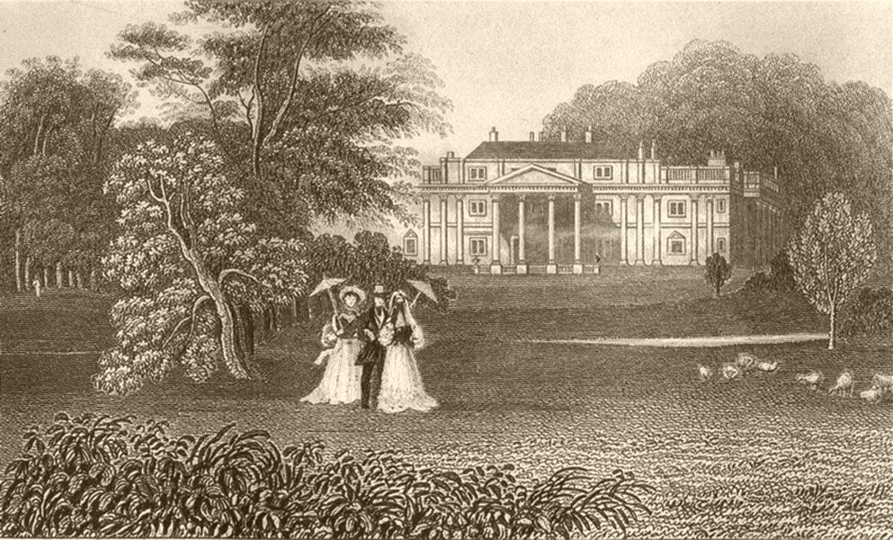 Associate Product SUFFOLK. Oakley park the seat of Sir Edward Kerrison, Bart. DUGDALE 1845 print