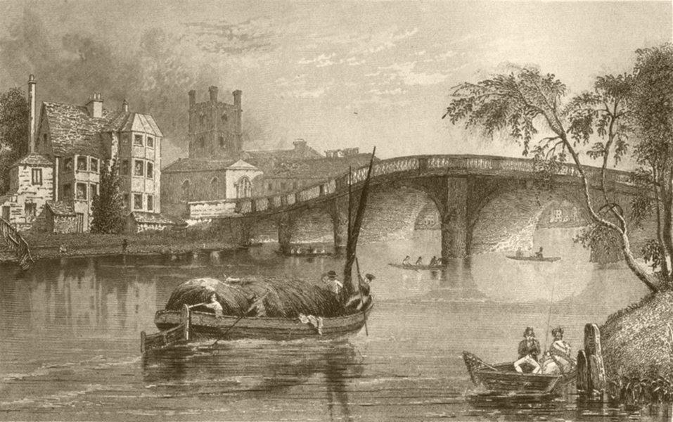 Associate Product LONDON. Kew. DUGDALE 1845 old antique vintage print picture