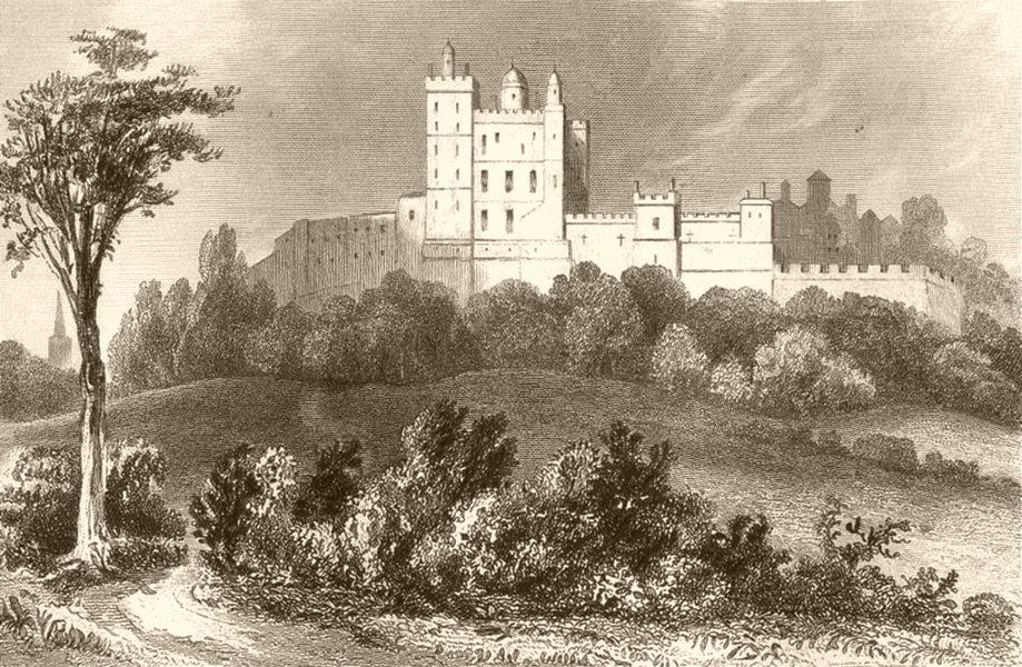 Associate Product DERBYSHIRE. Bolsover Castle, Derbyshire. DUGDALE 1845 old antique print