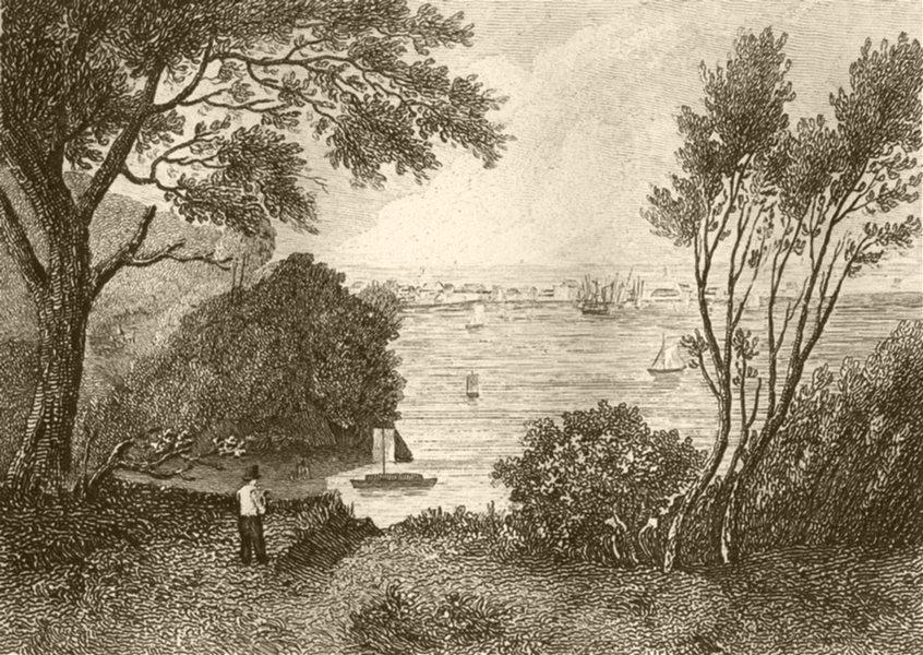 Associate Product DEVON. Teignmouth, Devon. DUGDALE 1845 old antique vintage print picture