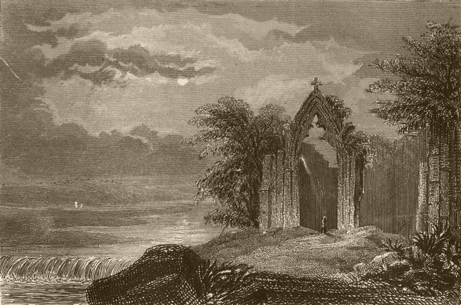 Associate Product YORKSHIRE. Kirkdale Priory(St Gregory's Minster). DUGDALE 1845 old print