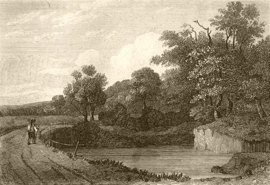 Associate Product KENT. Near Tonbridge. DUGDALE 1845 old antique vintage print picture