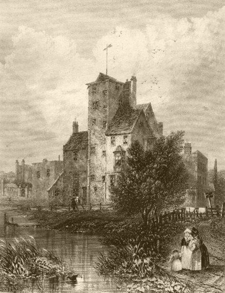 Associate Product LONDON. Canonbury Tower. DUGDALE 1845 old antique vintage print picture