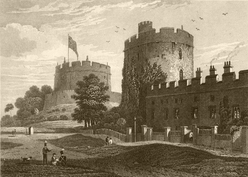 Associate Product BERKSHIRE. Windsor Castle, Berkshire. DUGDALE 1845 old antique print picture