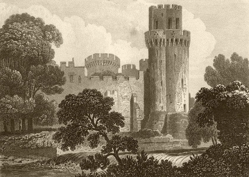 Associate Product WARWICKSHIRE. Guys Tower, Warwick Castle, Warwickshire. DUGDALE 1845 old print