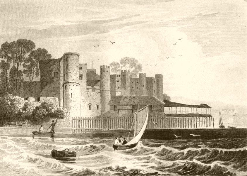 Associate Product KENT. Upnor Castle, Kent. DUGDALE 1845 old antique vintage print picture