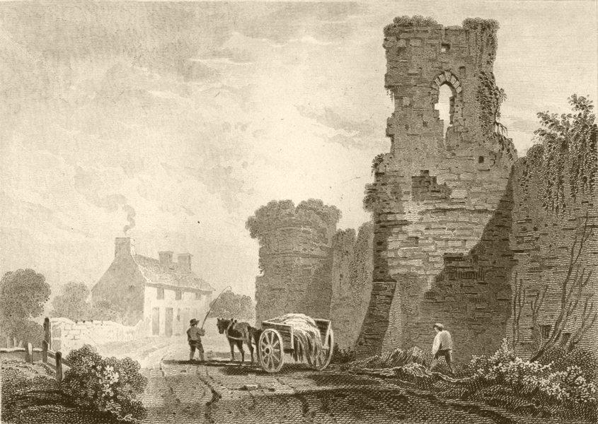 Associate Product SUSSEX. Pevensey Castle, Sussex. DUGDALE 1845 old antique print picture