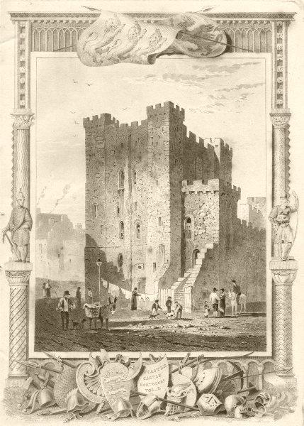 Associate Product NORTHUMBERLAND. W Castle Castle Northumba Vol I. DUGDALE 1845 old print