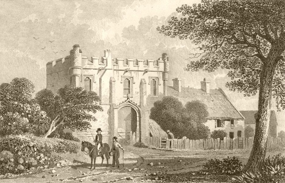 Associate Product DERBYSHIRE. Mackworth Castle, Derbyshire. DUGDALE 1845 old antique print